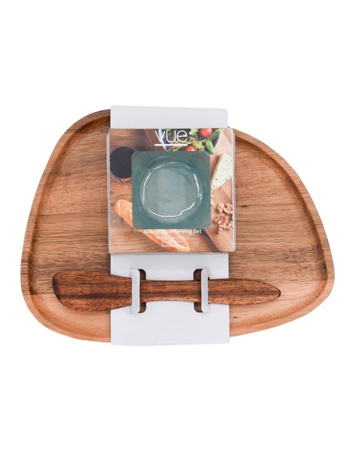 Acacia Plate, Dip Bowls & Knife image 2