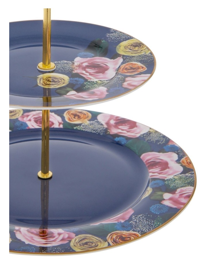 Florence 2-Tier Floral Cake Stand in Navy image 2