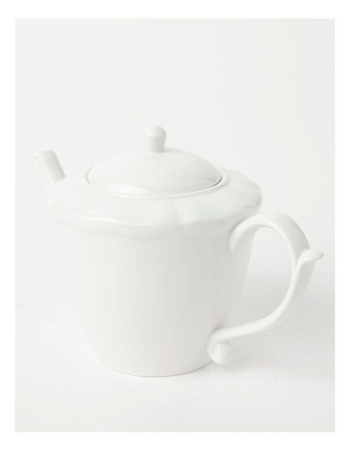 Heritage Scalloped Teapot in White image 2