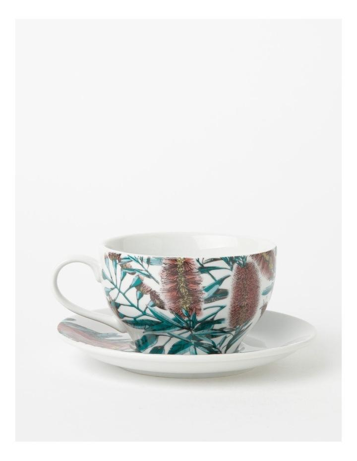 Australian Large Floral Teacup & Saucer in Multi image 1