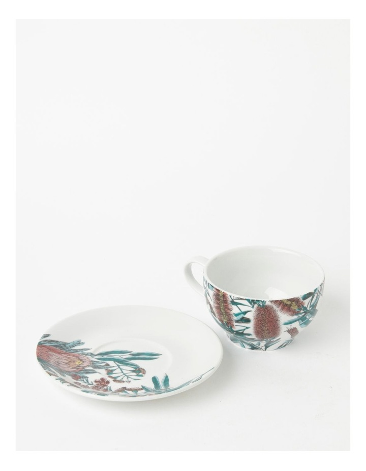 Australian Large Floral Teacup & Saucer in Multi image 3