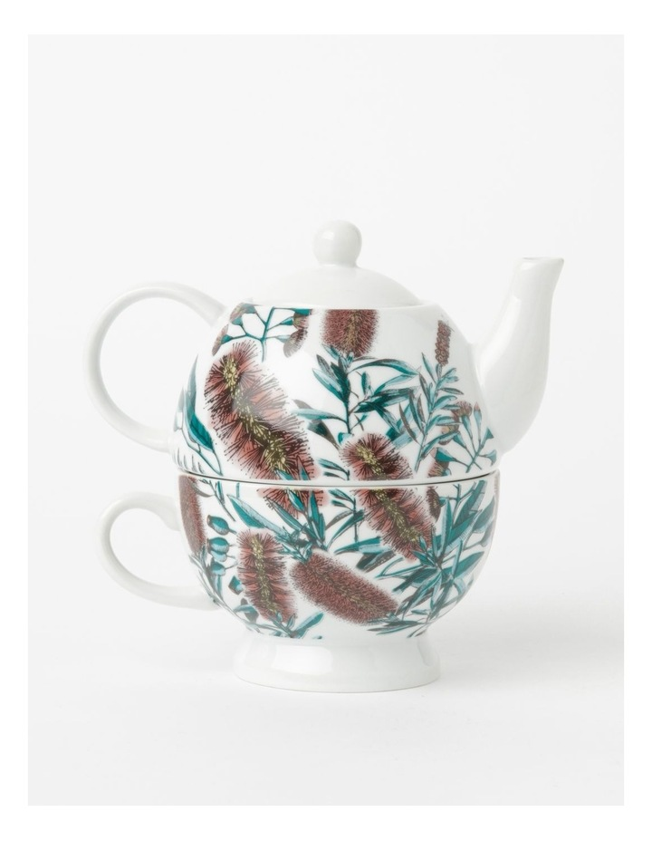 Australian Floral Teapot for One in White image 1