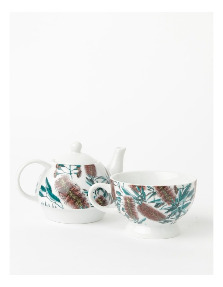 Australian Floral Teapot for One in White image 2