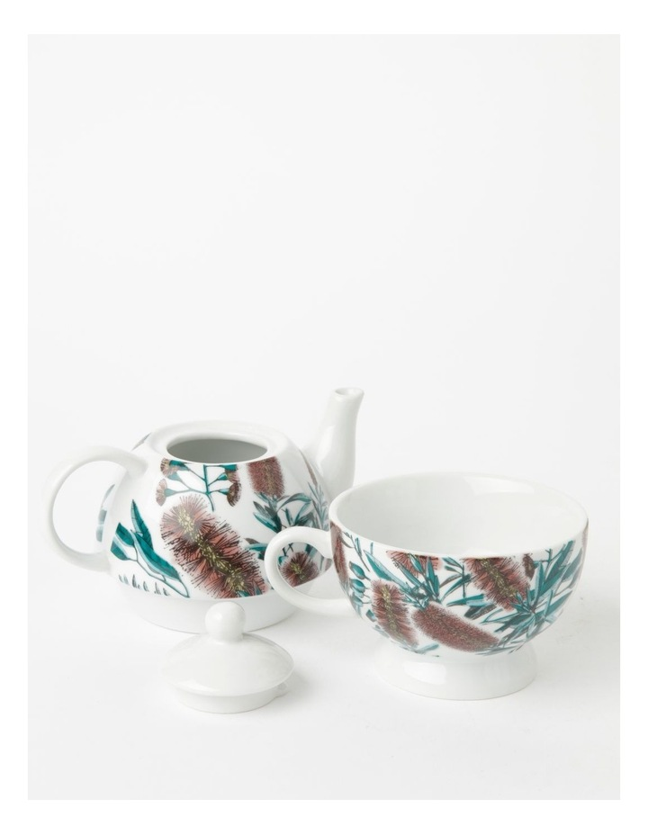 Australian Floral Teapot for One in White image 3