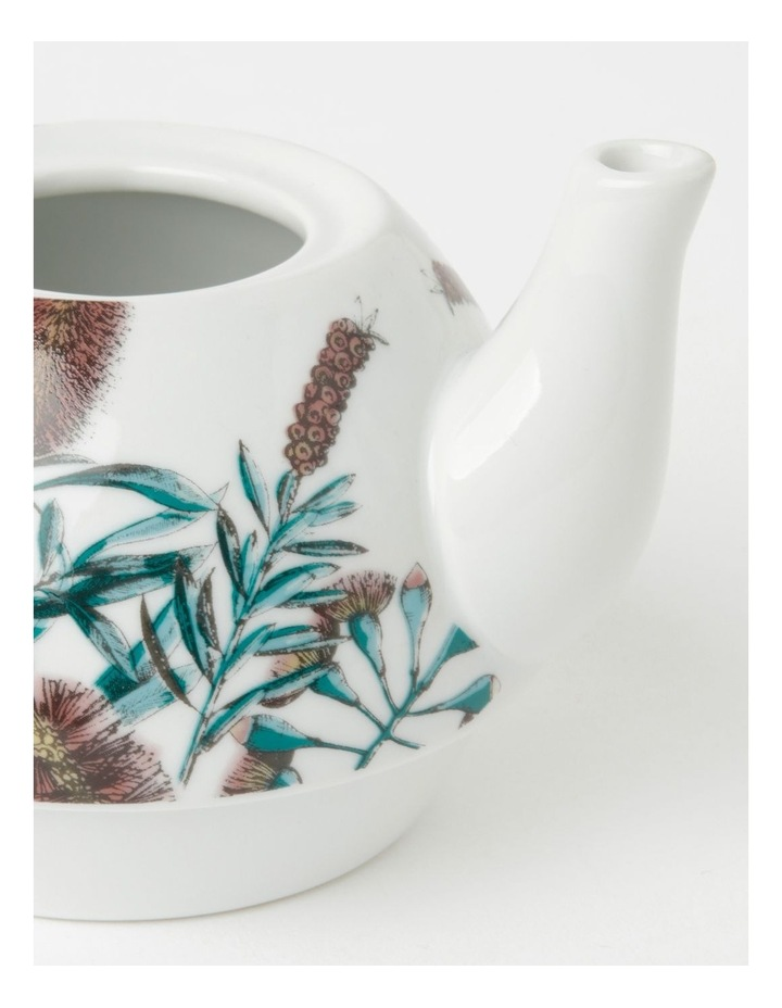 Australian Floral Teapot for One in White image 4