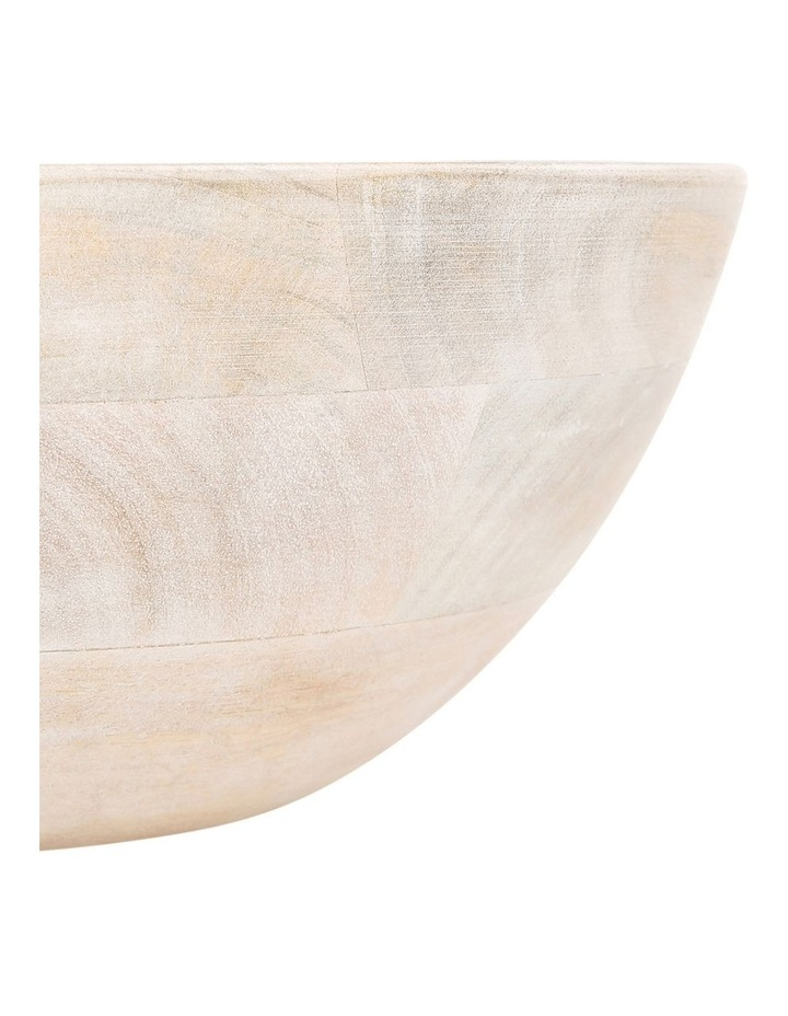 Peninsula Whitewash Mango Wood Bowl image 2