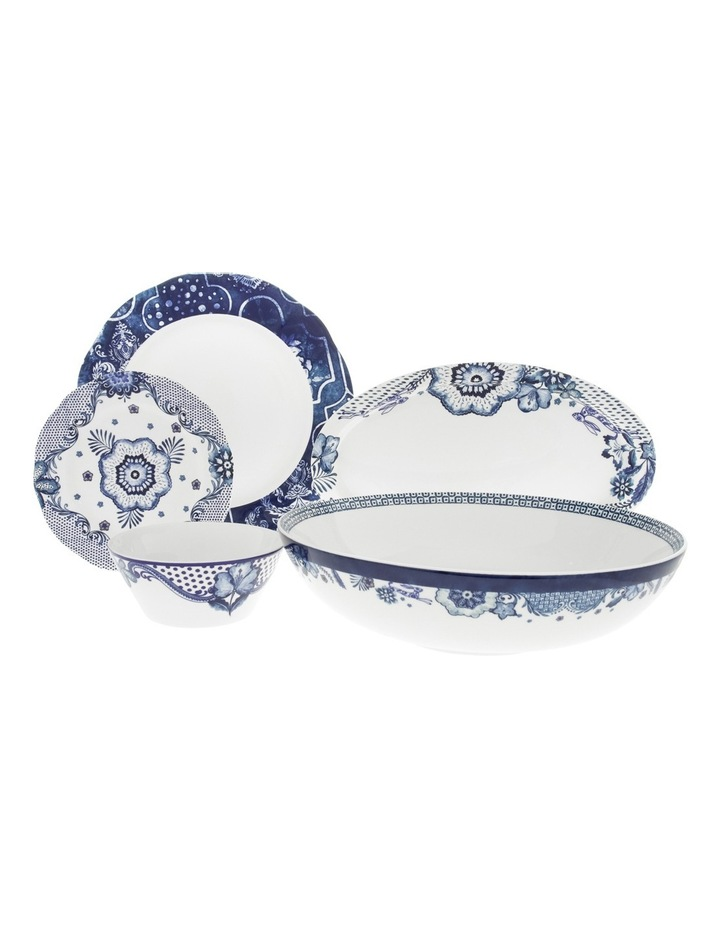 Blue Flower Serving Bowl 32cm image 3