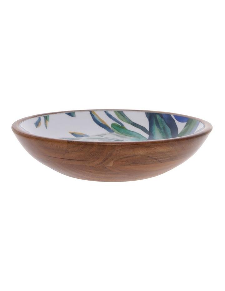 Botanical Acacia Wood Salad Bowl image 1