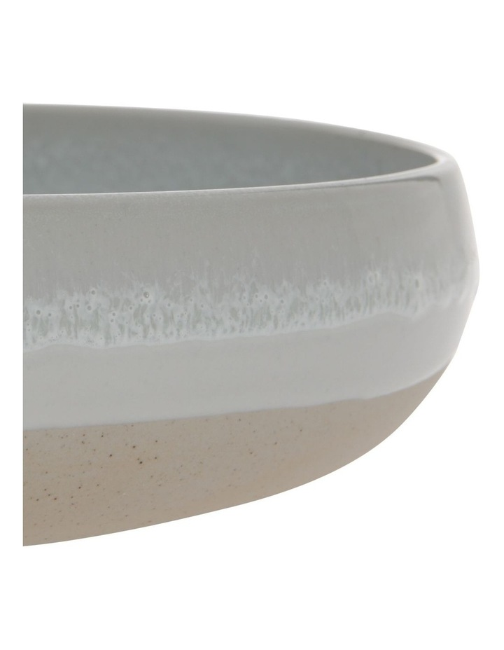 Beach Reactive Glazed Shallow Bowl image 3