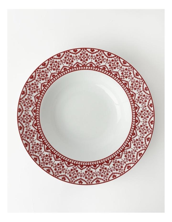 Deruta Red Tile Rim Serving Bowl image 1
