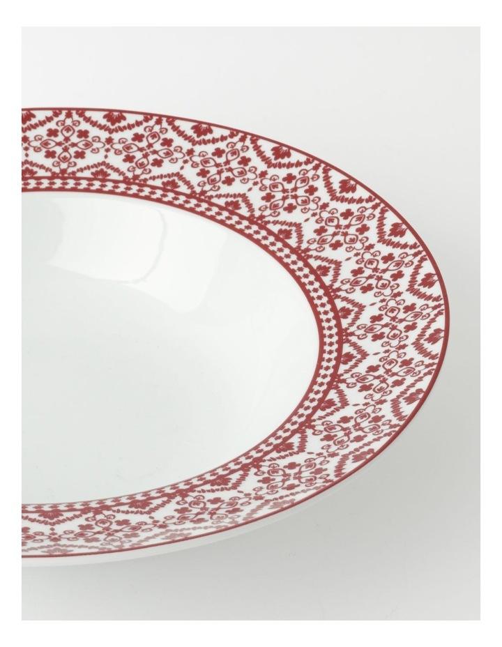 Deruta Red Tile Rim Serving Bowl image 2
