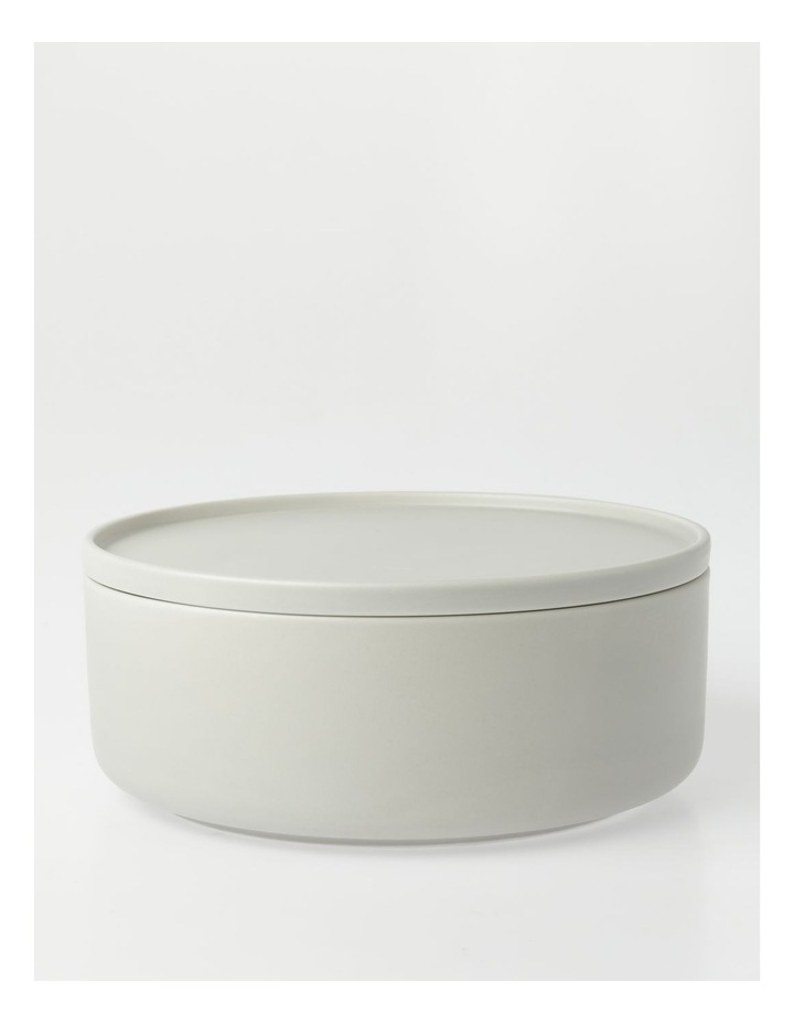 Large Lidded Bowl in Grey image 1