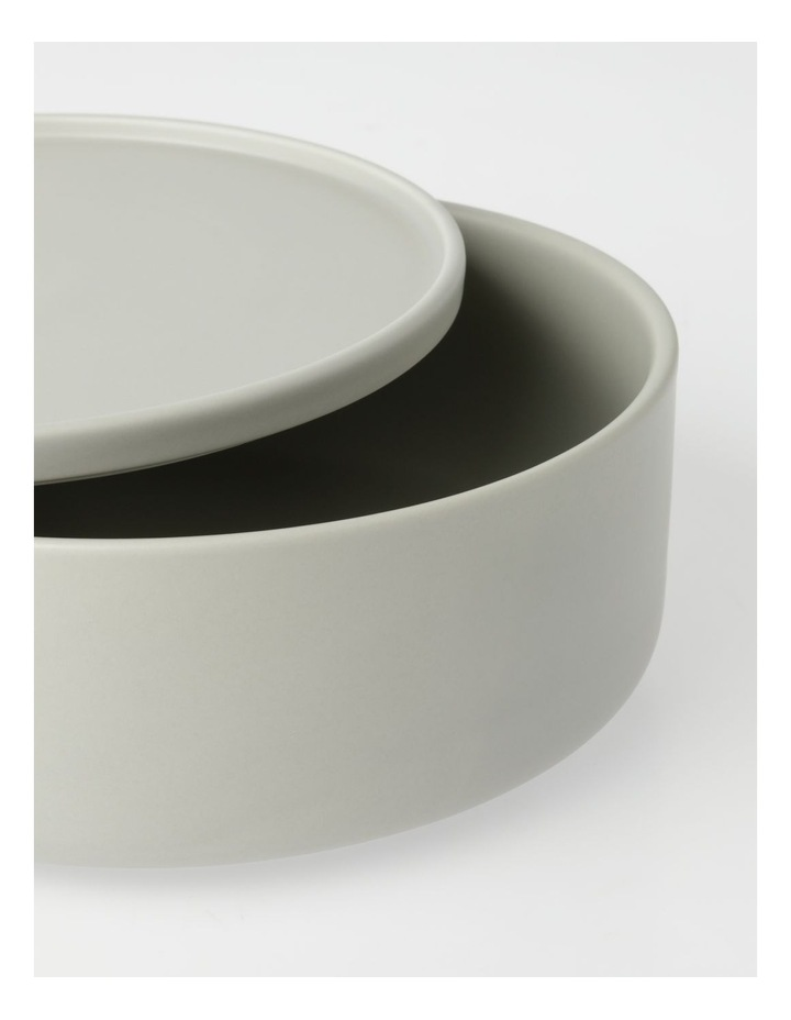Large Lidded Bowl in Grey image 2