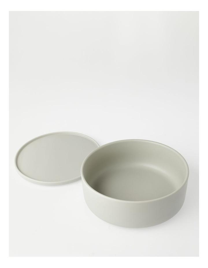 Large Lidded Bowl in Grey image 3