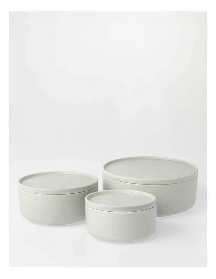 Large Lidded Bowl in Grey image 4
