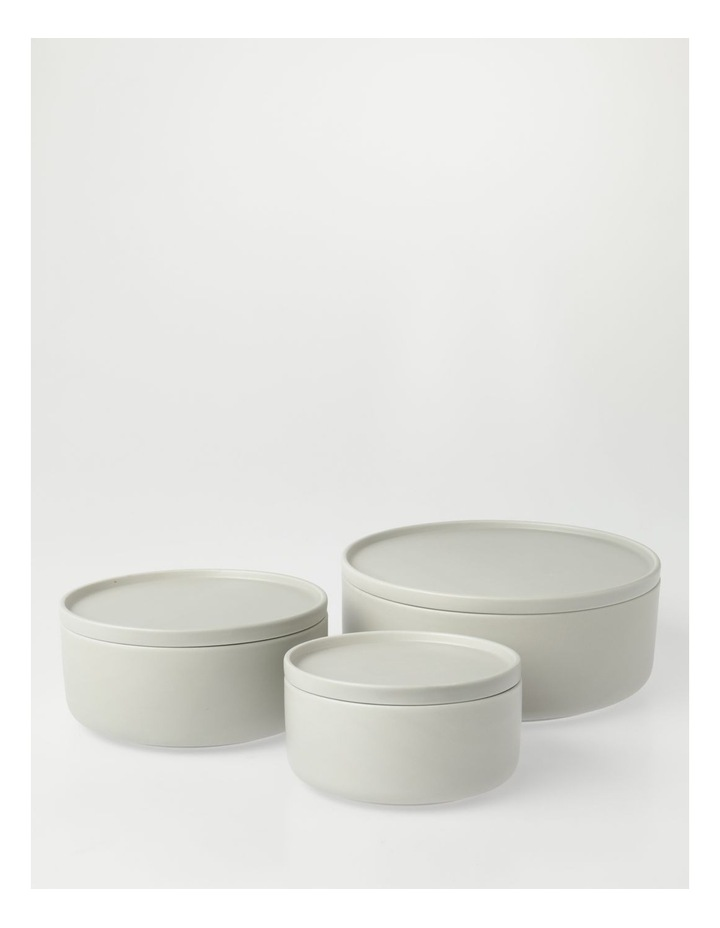 Small Lidded Bowl in Grey image 4