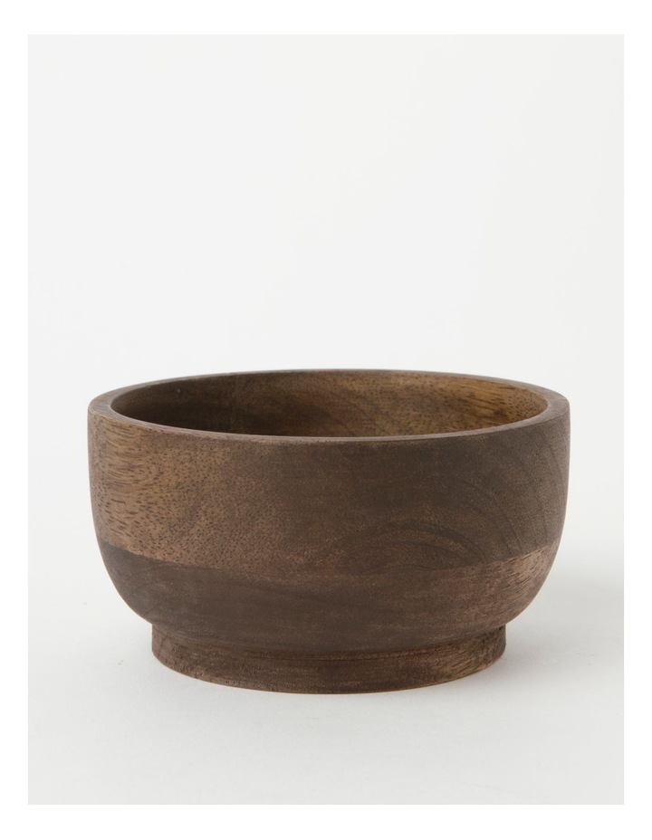 Heritage Walnut Look Large Serving Bowl image 1