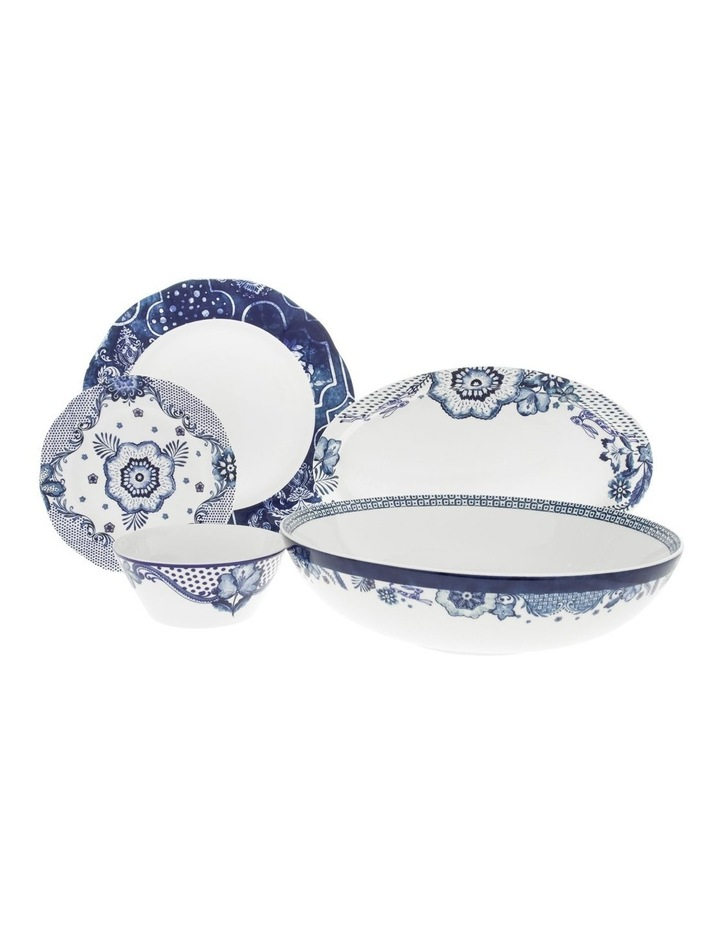 Blue Flower Oval Plate 35.5cm image 3