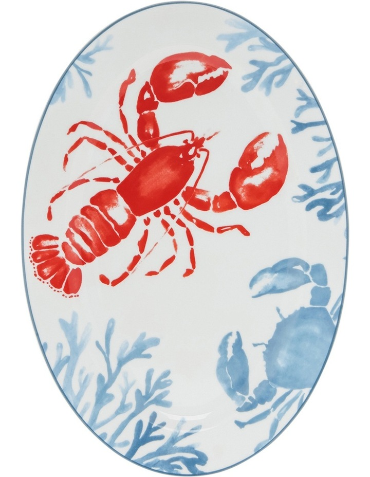 Lobster Design Oval Platter 37cm image 1