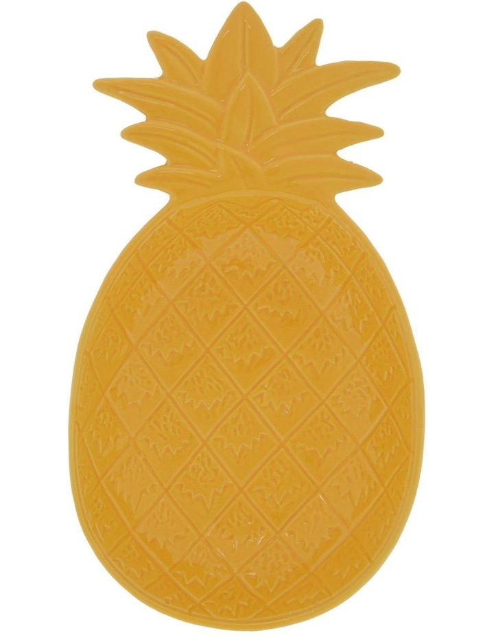 Tropical Pineapple Serving Plate in Yellow - Large image 1