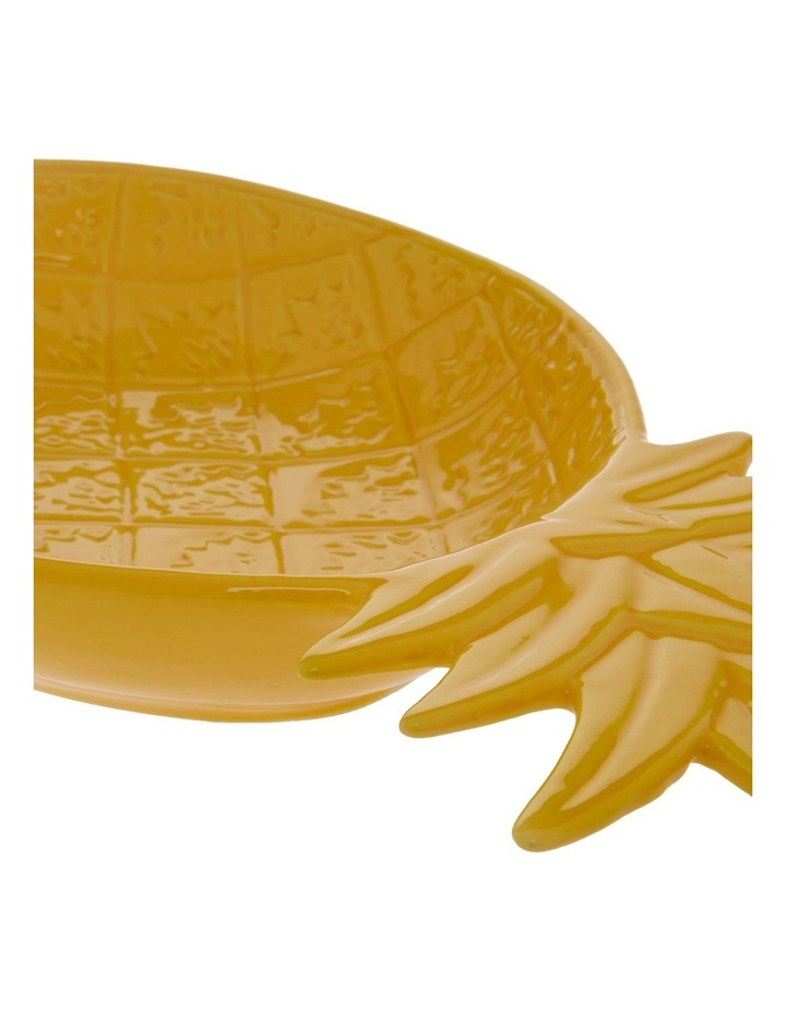 Tropical Pineapple Serving Plate in Yellow - Large image 2