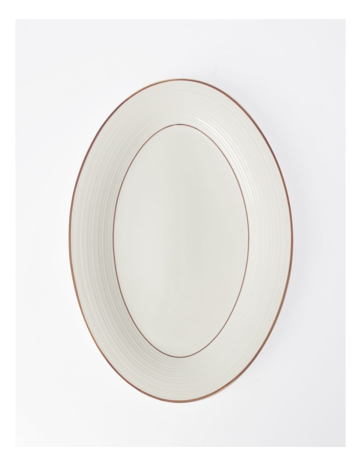 Luxe Christmas Rose Gold Rimmed Oval Platter Small image 1