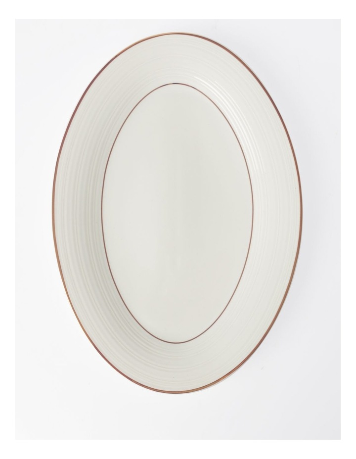 Luxe Christmas Rose Gold Rimmed Oval Platter Large image 1