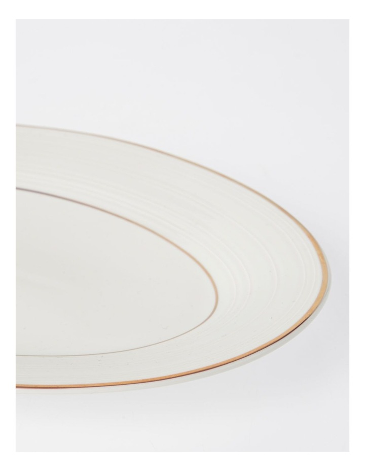 Luxe Christmas Rose Gold Rimmed Oval Platter Large image 2
