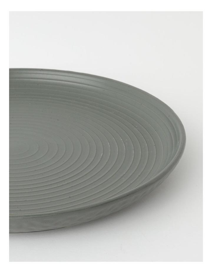 Desert Bloom Round Platter in Dark Green image 2