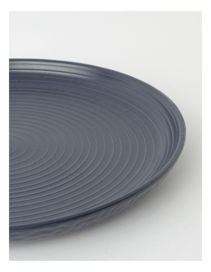 Desert Bloom Round Platter in Dark Blue image 3