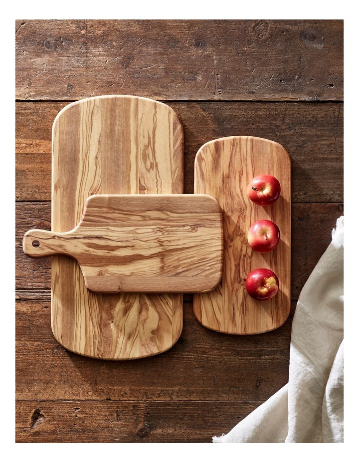 40x20x1.5cm Olive Wood Rectangular Serving Board in Natural image 2