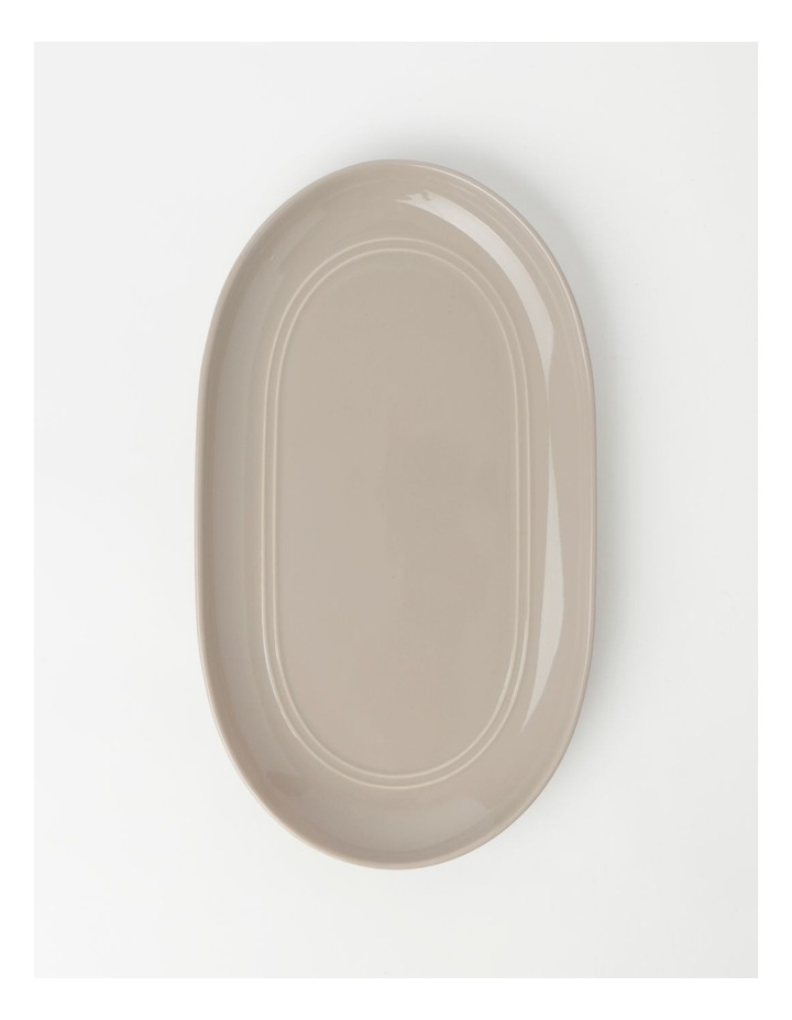 Avenue Oval Platter Taupe image 1