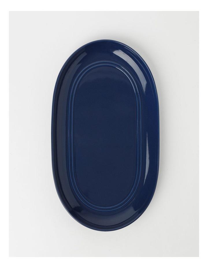 Avenue Oval Platter Indigo image 1
