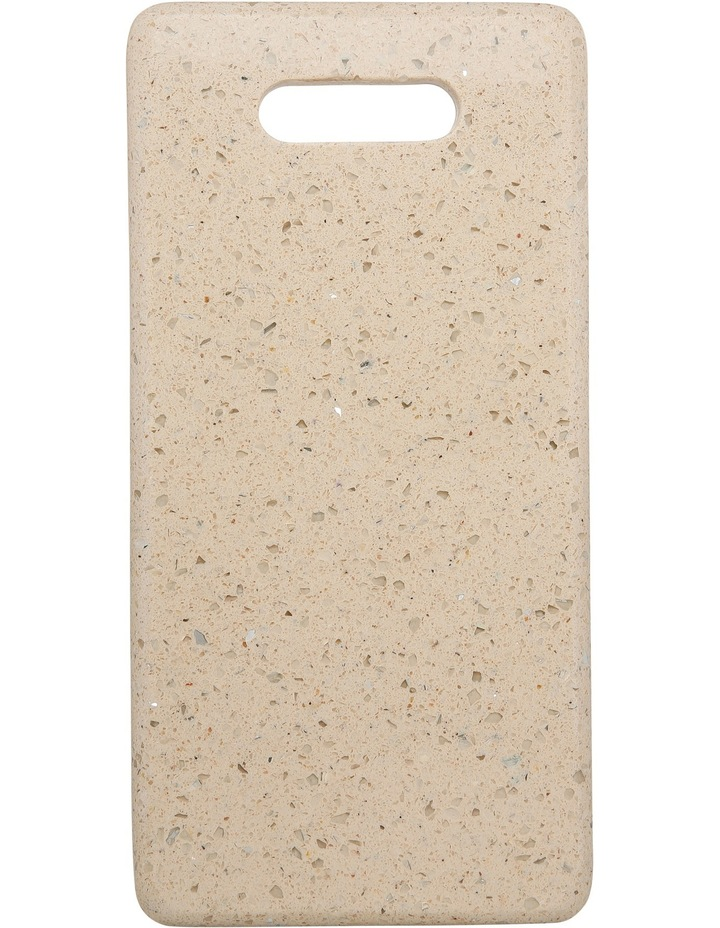 Champagne Rectangle Terrazzo Board With Handle 30cm image 1
