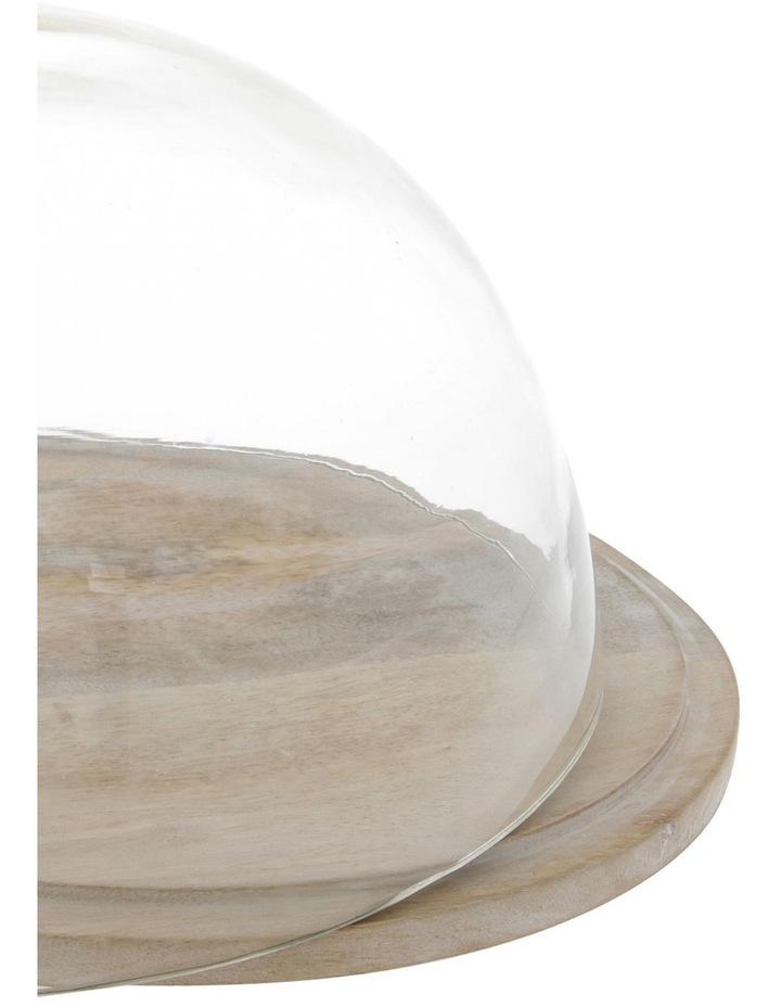 Peninsula Whitewash Mango Wood Cake Dome image 2