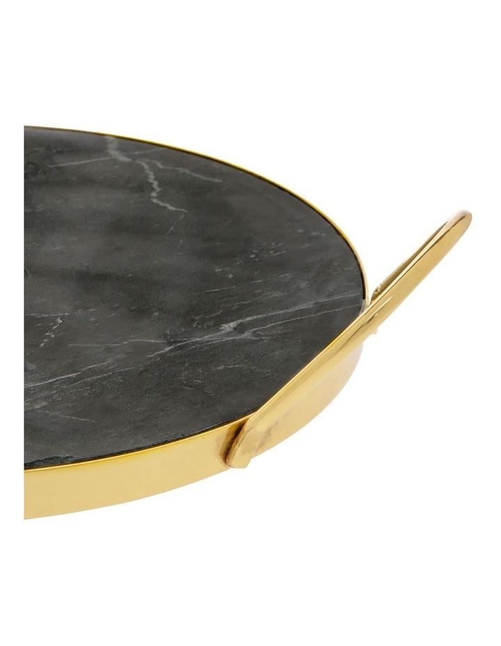 Sakala Black Marble Serving Tray with Handle image 1
