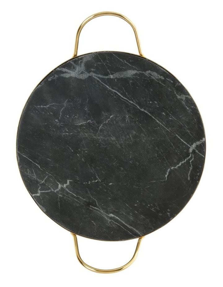 Sakala Black Marble Serving Tray with Handle image 2