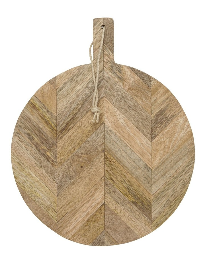 Herringbone Wood Round Paddle Board image 1