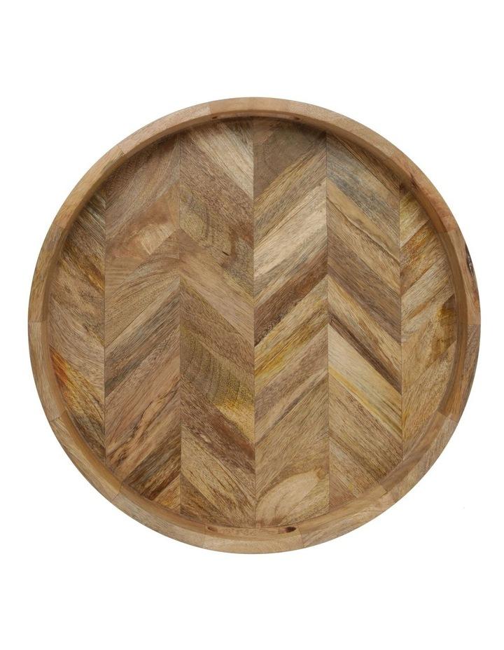 Herringbone Wood Serving Tray image 3