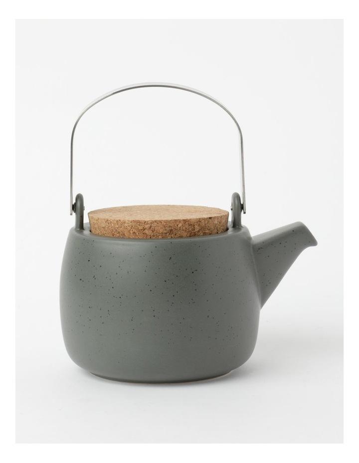 Desert Bloom Tea Pot Dark Green image 1
