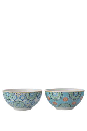 Maxwell & Williams - Teas & C's Isfara Set of 2 Bowl Blue 12.5cm Gift Boxed