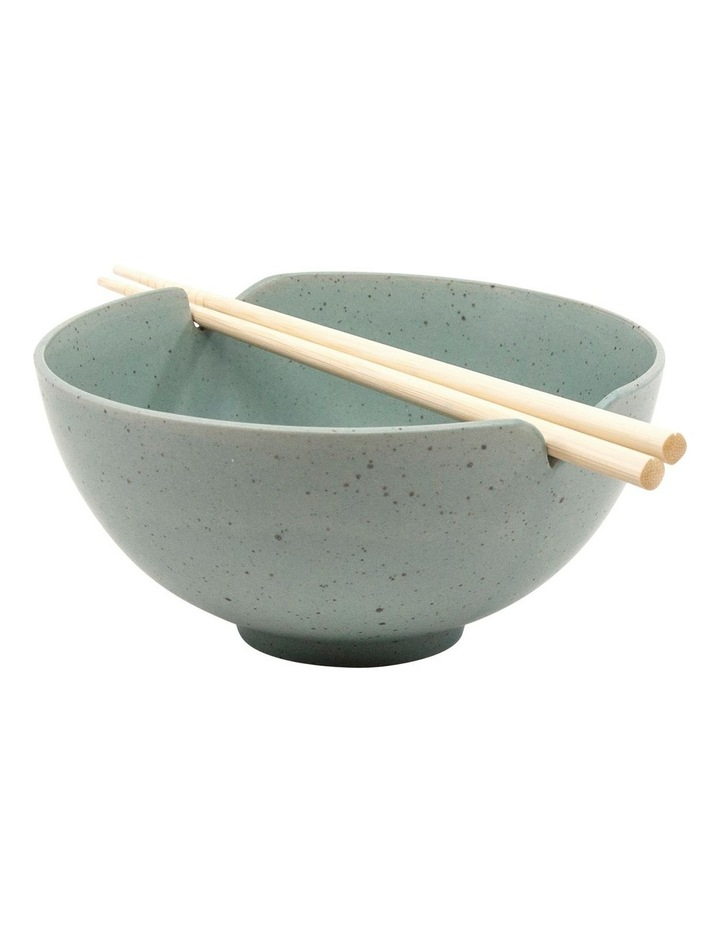 Ikana Bowl with Chopstick - 16.5cm - Moss image 1