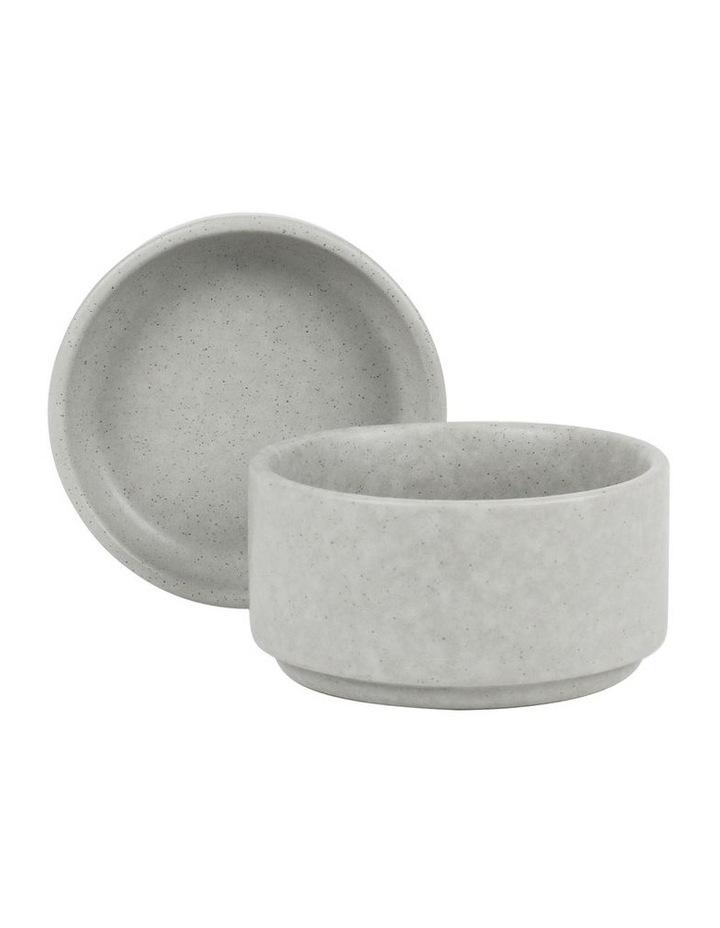Stack, Serve & Store Condiment Bowl & Dish - Reactive Glaze Grey image 2