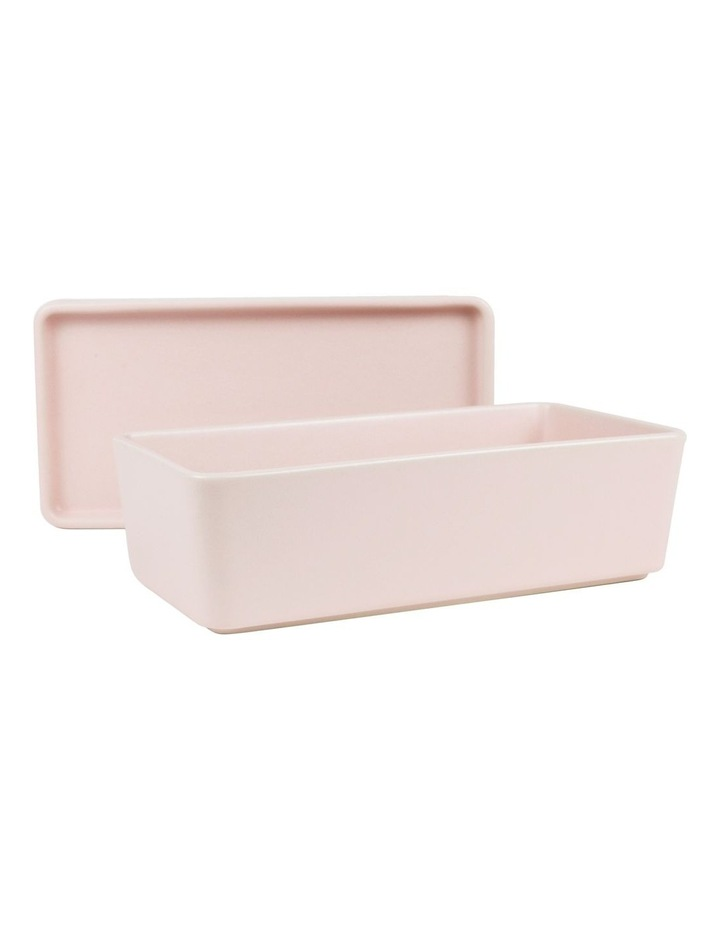 Stack, Serve & Store Rectangle Bowl & Plate - Reactive Glaze Pink image 2