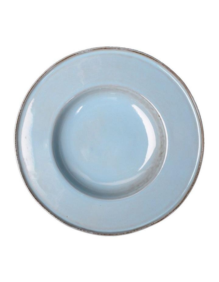 Flat Rim Reactive 4 Piece Pasta Bowl Set - Blue image 1