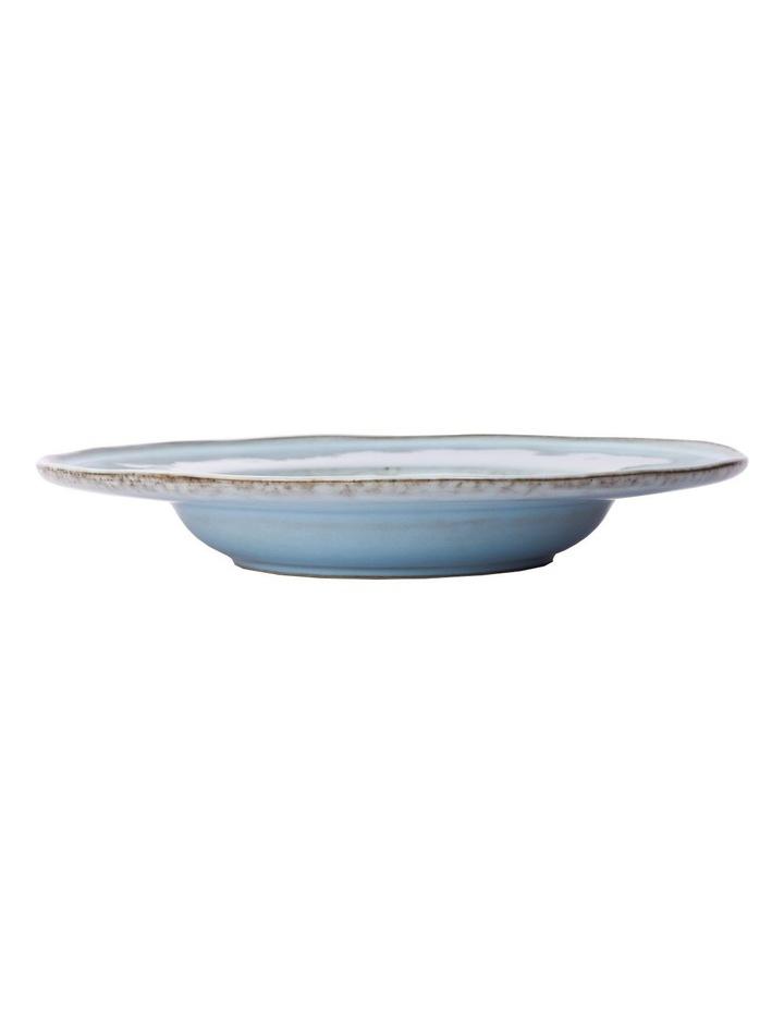 Flat Rim Reactive 4 Piece Pasta Bowl Set - Blue image 3
