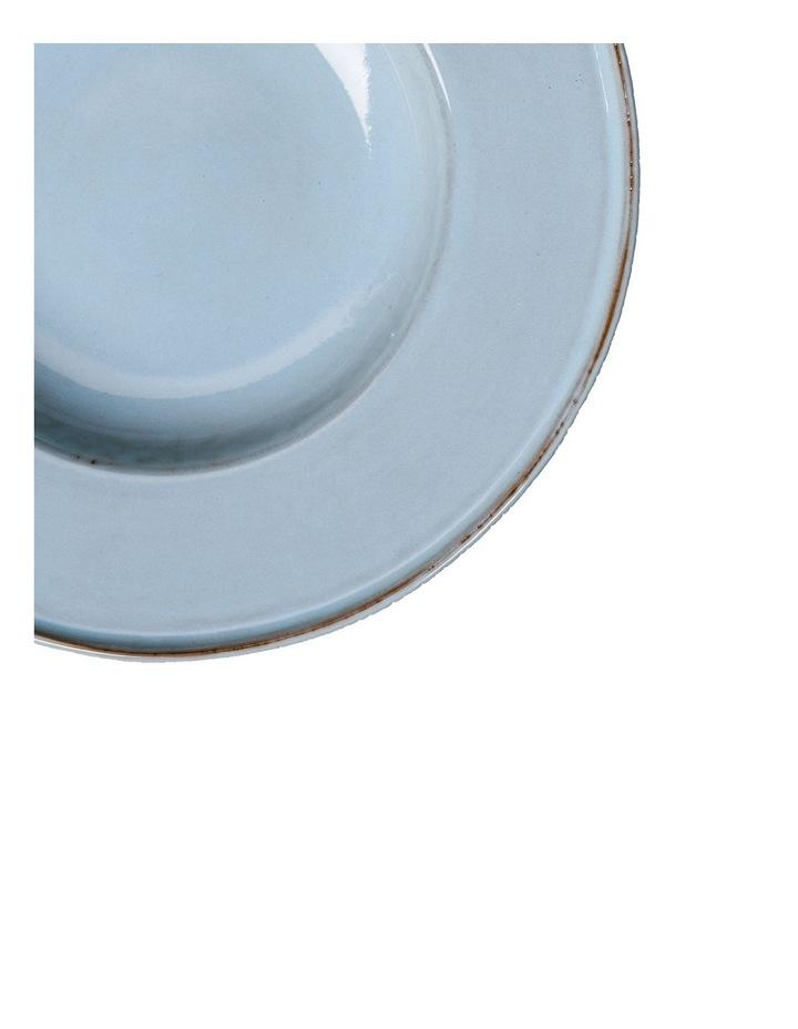Flat Rim Reactive 4 Piece Pasta Bowl Set - Blue image 4