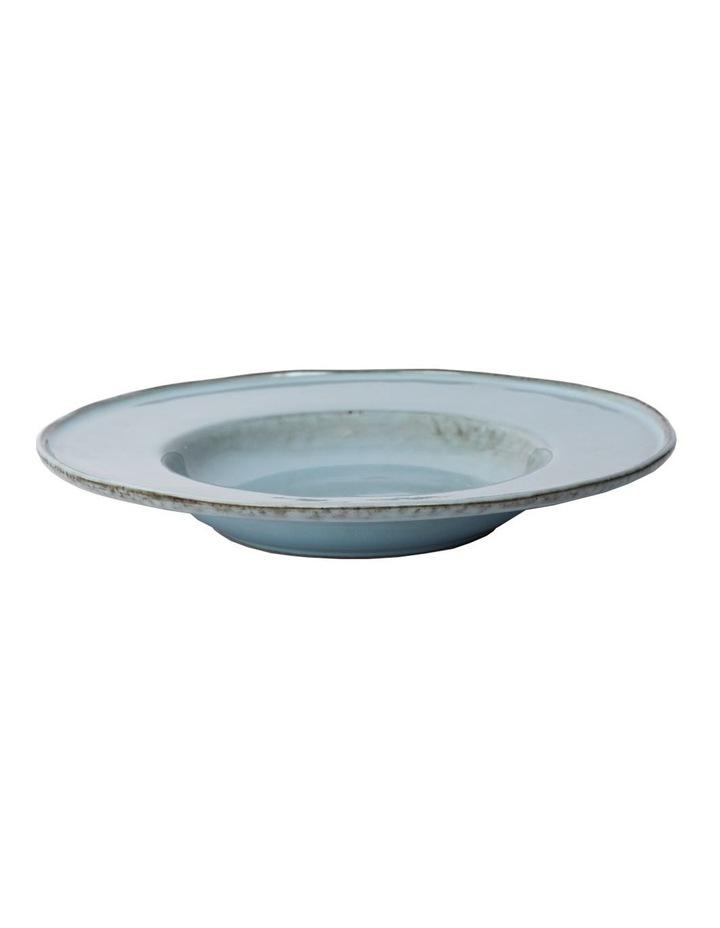 Flat Rim Reactive 4 Piece Pasta Bowl Set - Blue image 5