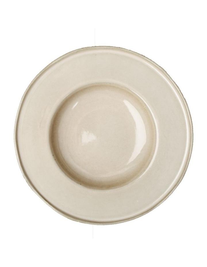 Flat Rim Reactive 4 Piece Pasta Bowl Set - Taupe image 1