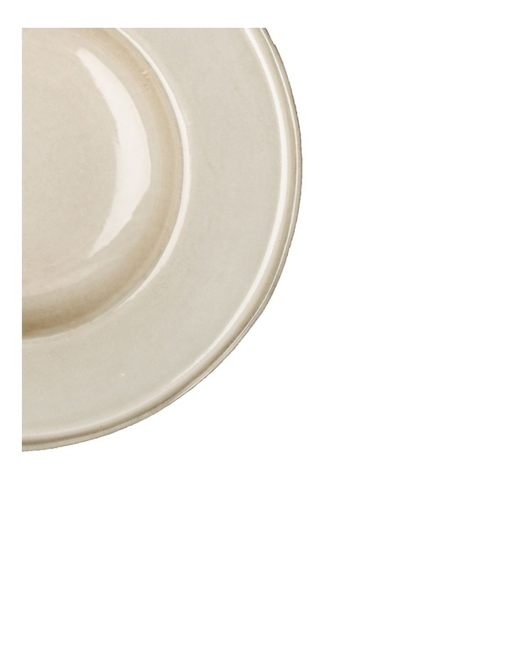 Flat Rim Reactive 4 Piece Pasta Bowl Set - Taupe image 3